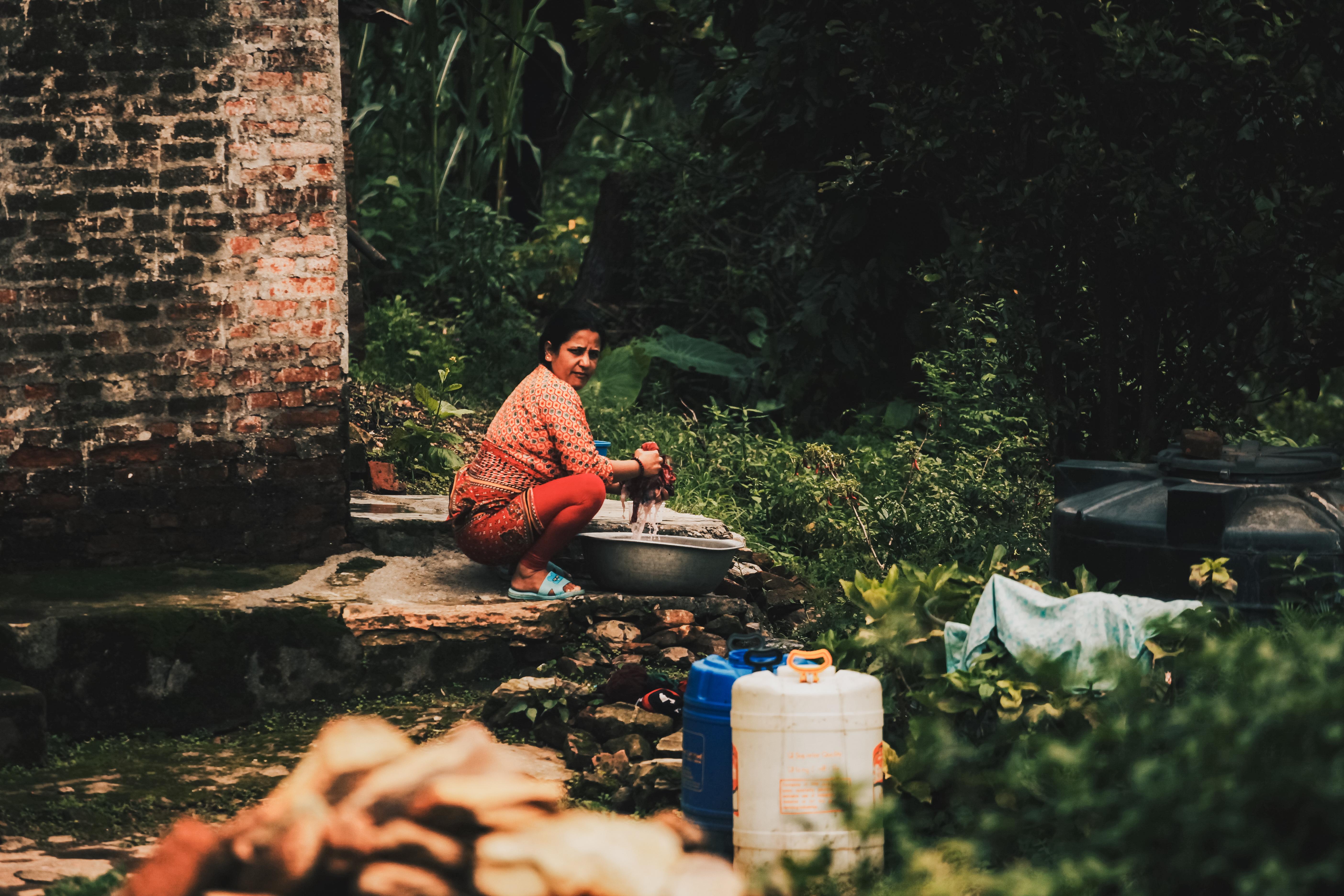 Woman Washing Clothes -Nepal